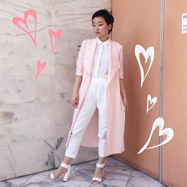 Light Pink Waterfall Jacket