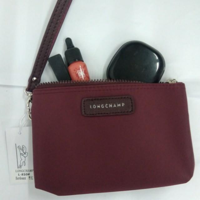 Longchamp makeup kit/ wristlet/ pouch