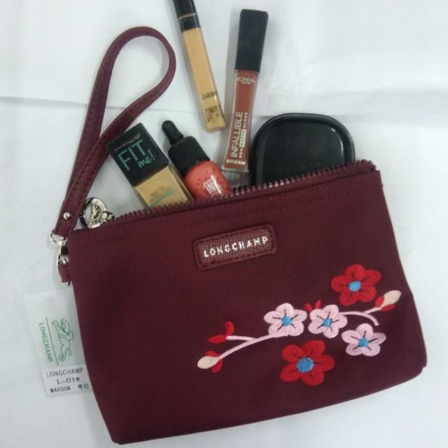 Longchamp Makeup Kit/pouch/wristlet