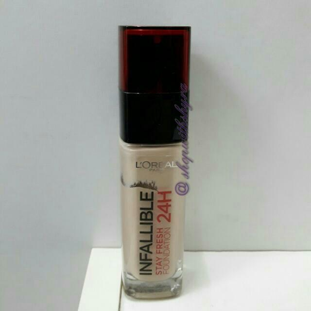 Loreal Infallible Stay Fresh 24H Foundation in 130 True Beige (from 30ml bottle).