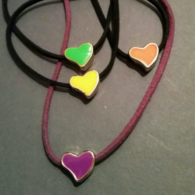 Loveheart Necklaces Assorted Colours  $2 each