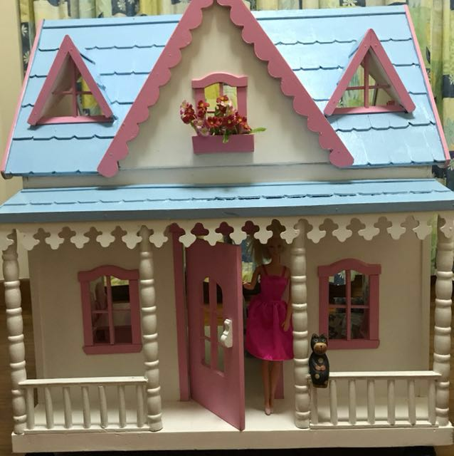 Lovely Barbie Doll House Life Barbie Size Babies Kids Toys