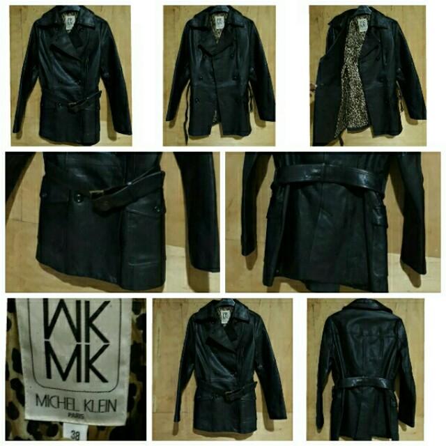 MICHEL KLEIN PARIS original leather Coat size 38 (S/M)