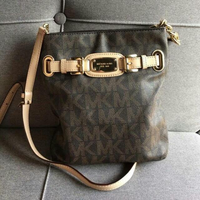 Mk Leather Sling Bag