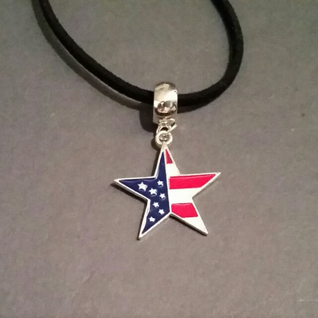 Necklace with American Flag