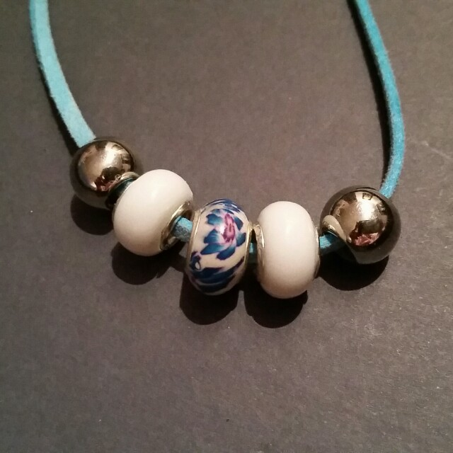 Necklace with Pandora Style Beads