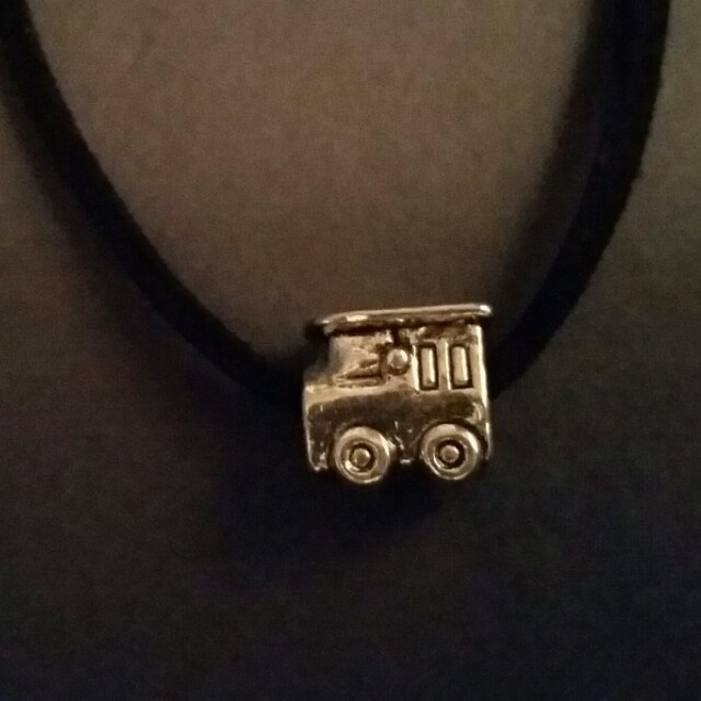 Necklace with Train Pendant