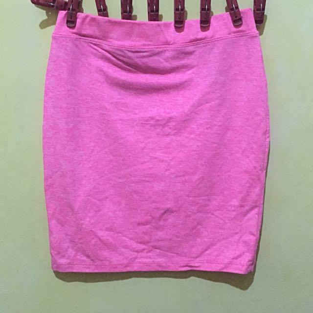 Neon Pink Bandage Skirt