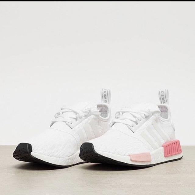 8dd94c5f68151 ... PINK  NEW UK 4.5 Adidas NMD R1 ice pinkwhite rose