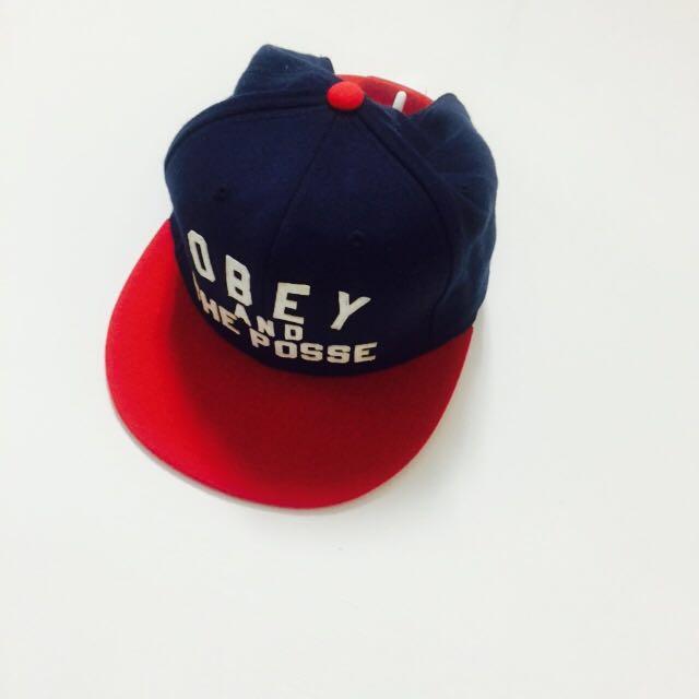 OBEY 板帽 藍紅 #我的女裝可超取