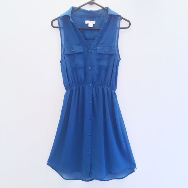 Ocean Blue Flare Dress