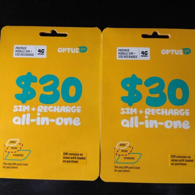 澳洲Optus SIM card on Carousell