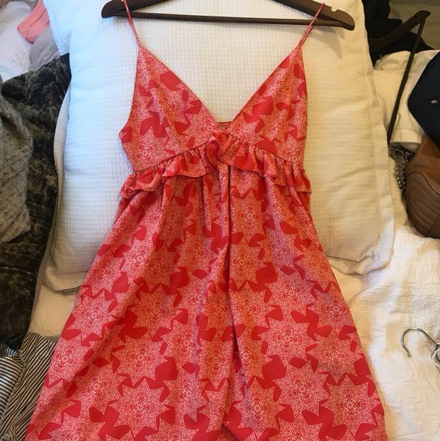 Orange cami dress