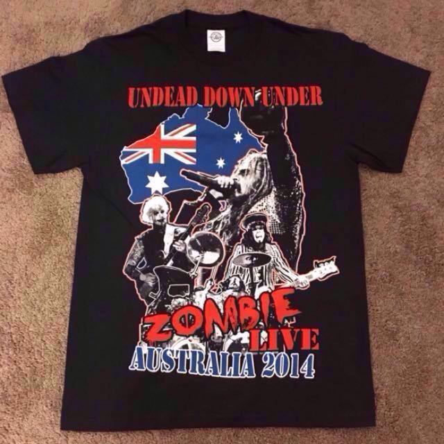 Orig. ROB ZOMBIE - Undead Down Under Australia 2014 Tour Shirt from US