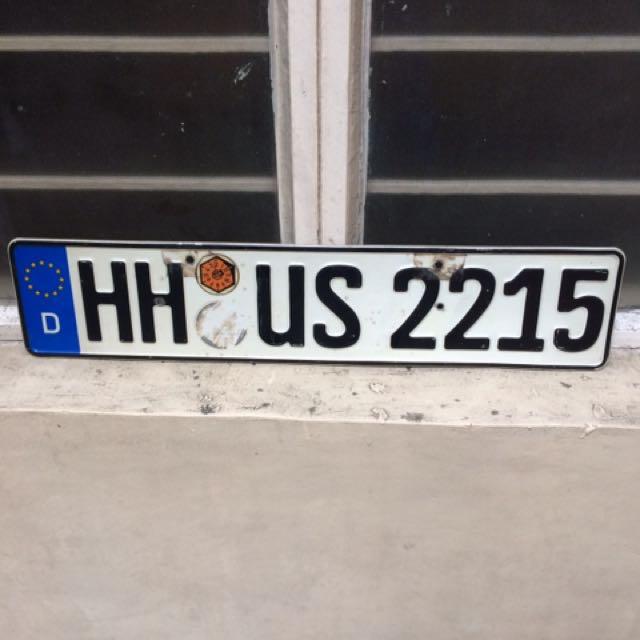 Original euro plate