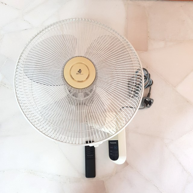Panasonic Wall Fan With Remote, Home Appliances On Carousell