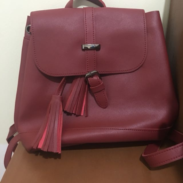 Parisian Red Backpack