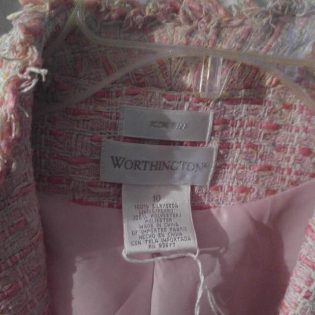 Pink Worthington vintage jacket