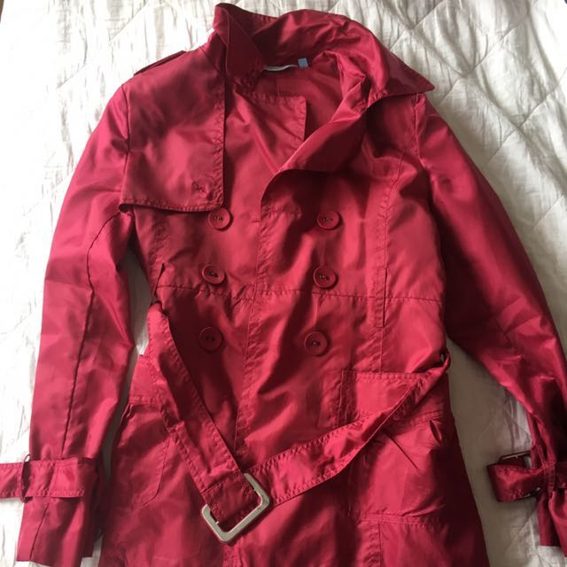 Pink/red waterproof coat / jacket