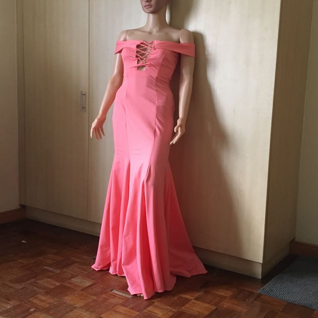Powder pink gown for sale bnew