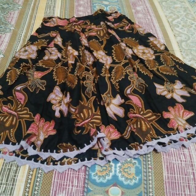 Rok batik tanpa furing