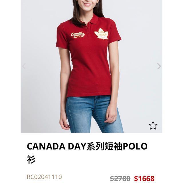 🔥出清🔥Roots CANADA DAY系列 短袖POLO衫 S #我的女裝可超取