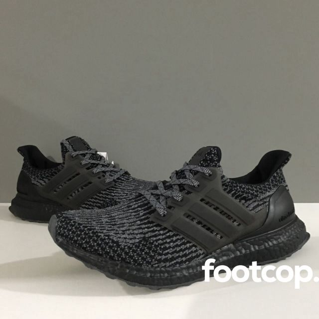 [SALE] Adidas Ultra Boost Triple Black Silver