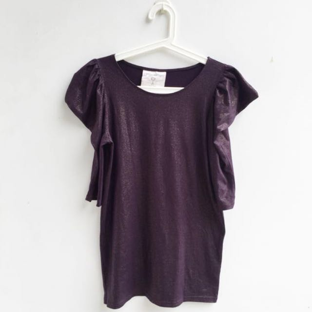 SALE! LIKE NEW Purple Glittery Blouse