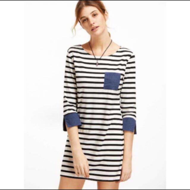 SALE: Now 250!!! BNew Korean stripes slip 3/4 dress