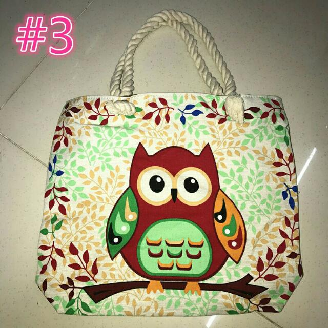 SALE! OWL TOTE BAG