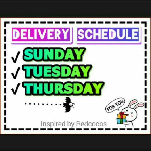 #SCHEDULE DELIVERY!☺