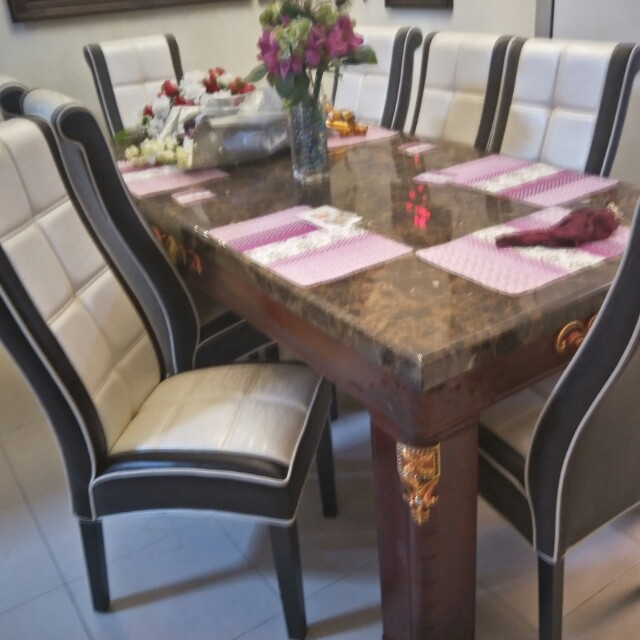 Set Meja Makan Marble 8 Kerusi Ekslusif Home Furniture On Carou