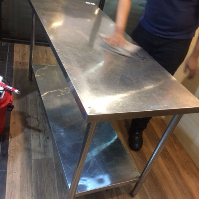 Stainless Steel Table Ft Kitchen Appliances On Carousell - 5 ft stainless steel table
