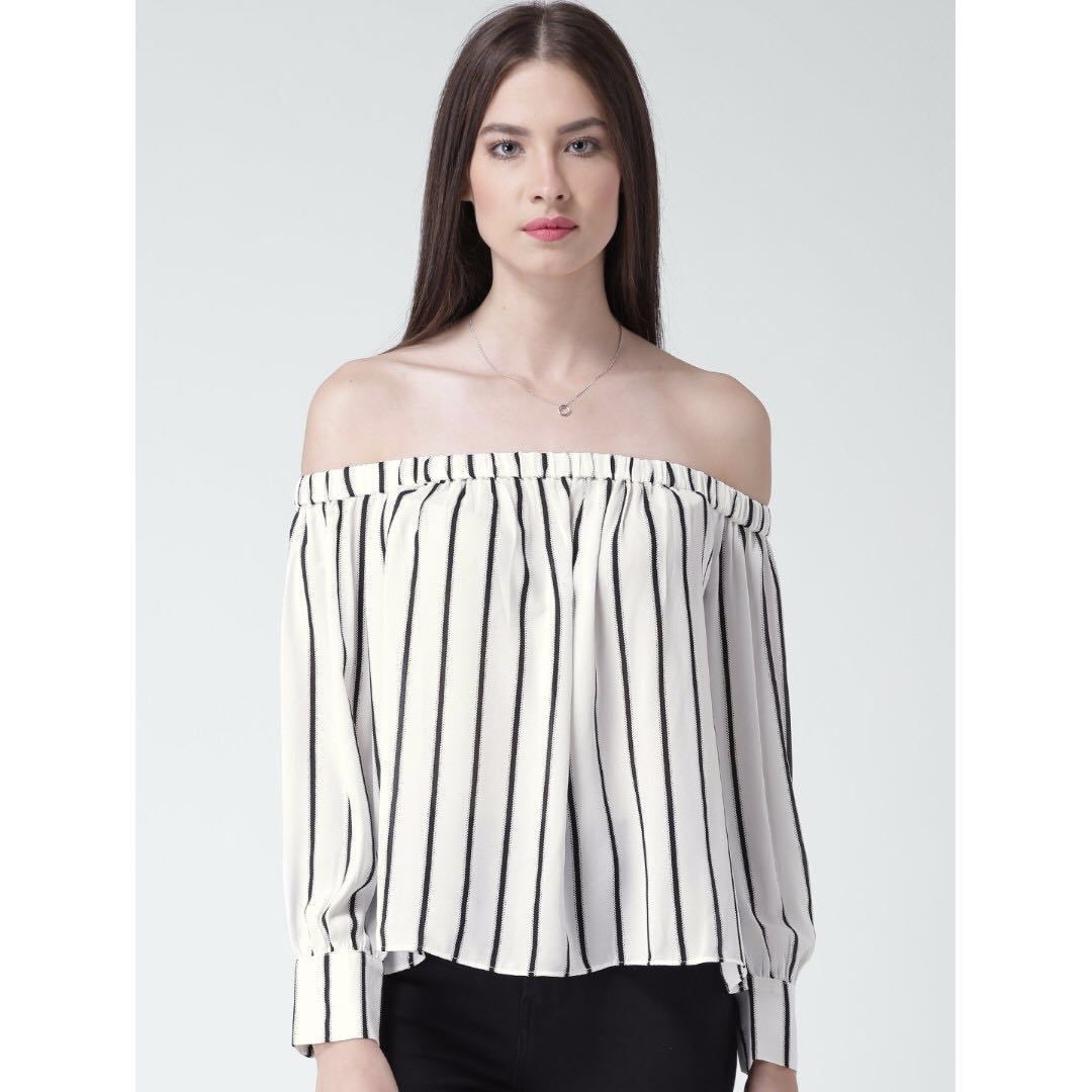 Striped Off the Shoulder Top (M)