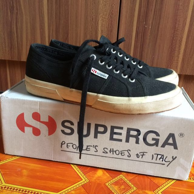 Superga black shoes