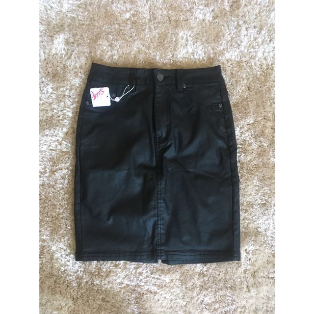 Supre Leather High Waisted Skirt Size 10