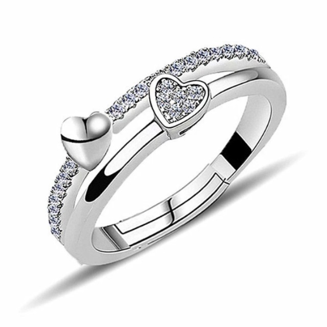 bc991dccafdf3 Swarovski elements crystal heart ring, Women's Fashion, Jewellery on ...
