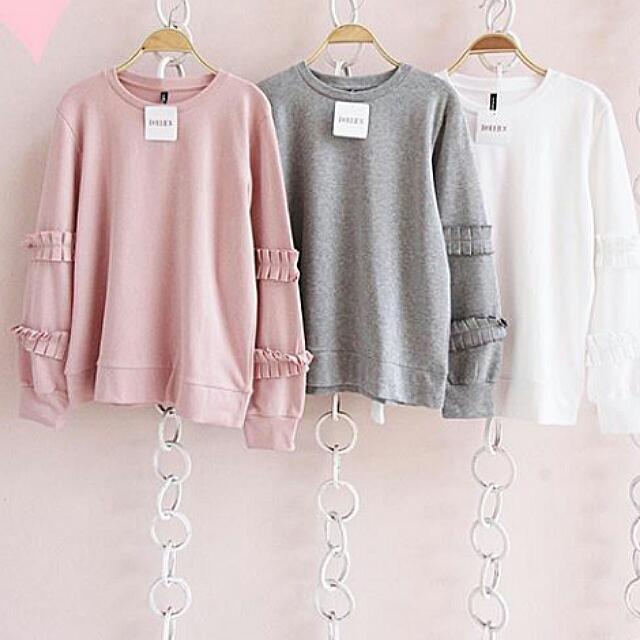 Sweater Soft Pink White Comfort