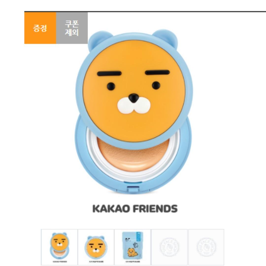 『韓妝代購』【現貨+預購】韓國THE FACE SHOP菲思小舖xKAKAO FRIENDS RYAN大頭氣墊粉餅
