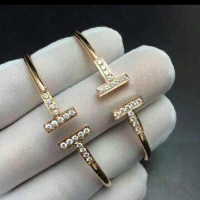 Tiffany & Co diamond T bangle/ braclet