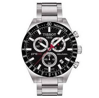 Tissot Gents PRS516 Black Chronograph Sports Watch T044.417.21.05