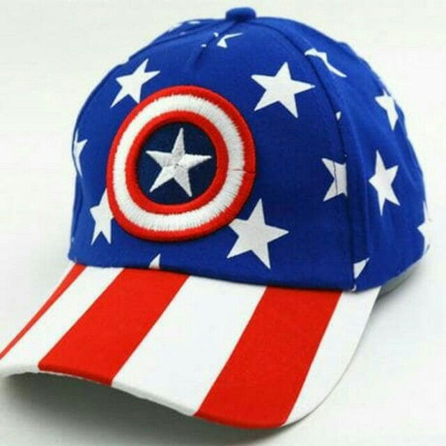 Topi Baseball anak import Captain America H386, Men's Fashion, Men's Accessories, Caps & Hats on Carousell