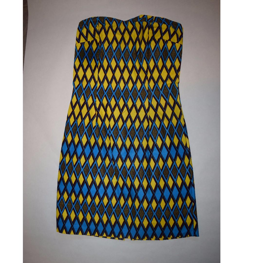Strapless Afrix Women's Dress