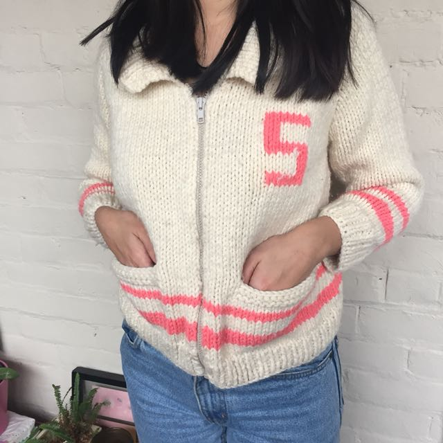 Varsity knit cardigan