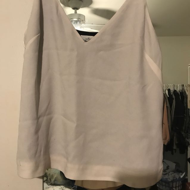 Wilfred cami size S in off white / beige
