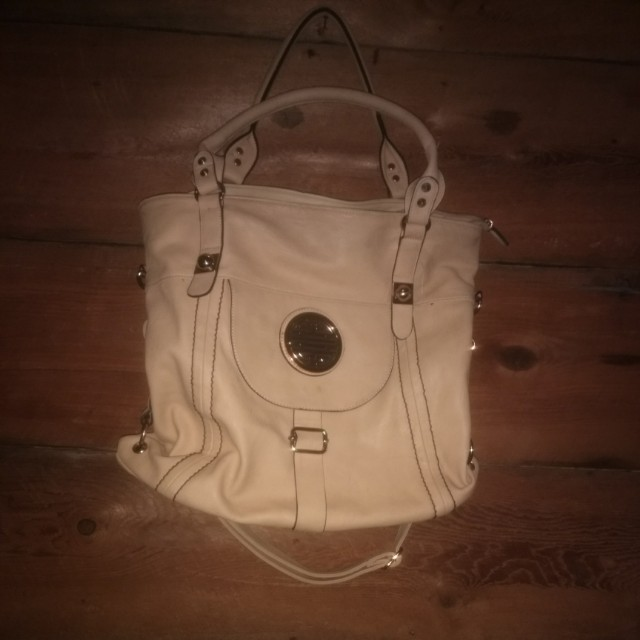 Womens beige handbag