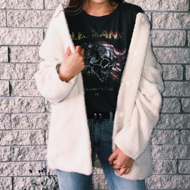 Wool oversized coat