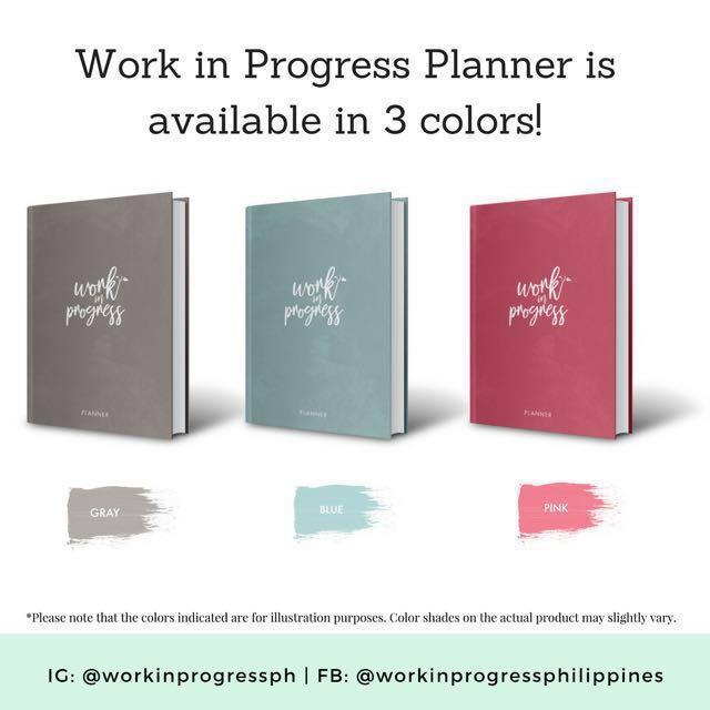 Work in Progress 2018 Planner