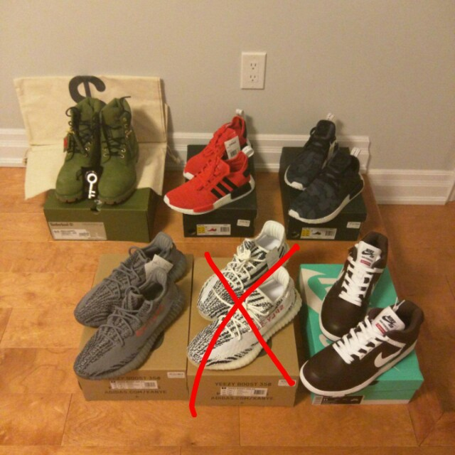 Yeezy nmds timberlands nike supreme air force