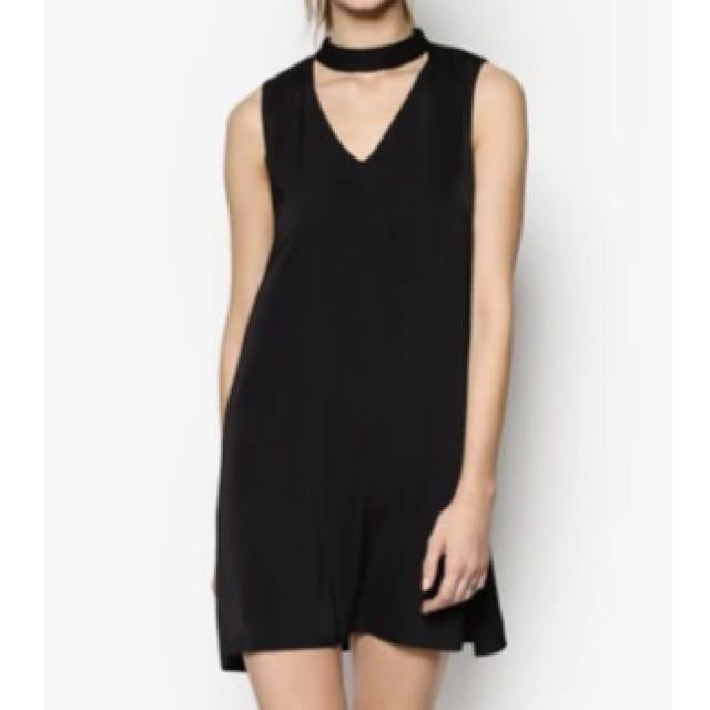 Zalora Love High Neck Swing Dress
